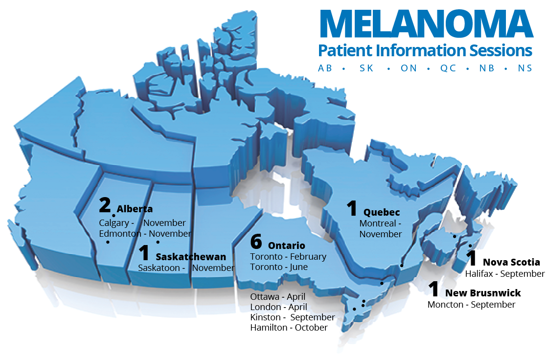 Melanoma Patient Information Map 2017