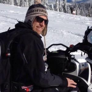 Chris Brochu snowmobiling - Copy