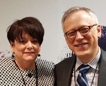 Annette Cyr with Dr. Marcus Butler