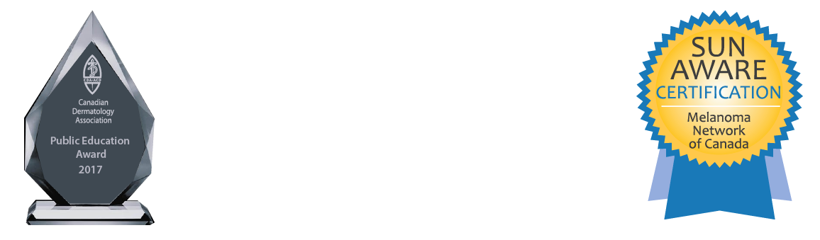 Canadian Dermatology Association as the recipient of their 2017 Public Education Award