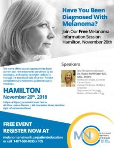 Melanoma Information Session Hamilton @ Juravinski Cancer Centre | Hamilton | Ontario | Canada