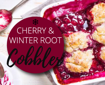 Cherry & Winter Root Cobbler