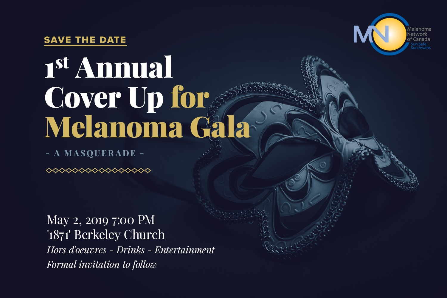 Cover up for Melanoma Gala