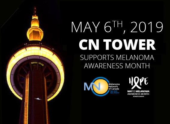CN TOWER 2019 may is melanoma month