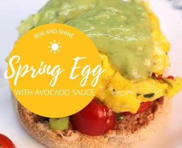 Spring Egg with Avocado Sauce