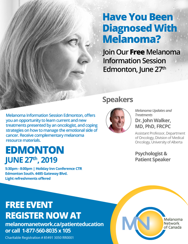 Melanoma Information Session Edmonton @ Holiday Inn Conference CTR Edmonton South