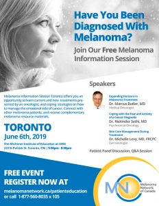 Toronto Melanoma Information Session @ The Michener Institute of Education at UHN
