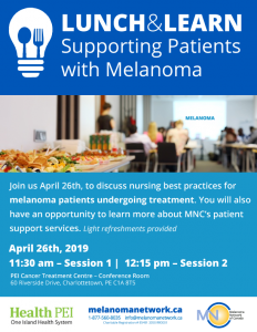 Melanoma Nurses Lunch & Learn @ PEI Cancer Treatment Centre – Conference Room