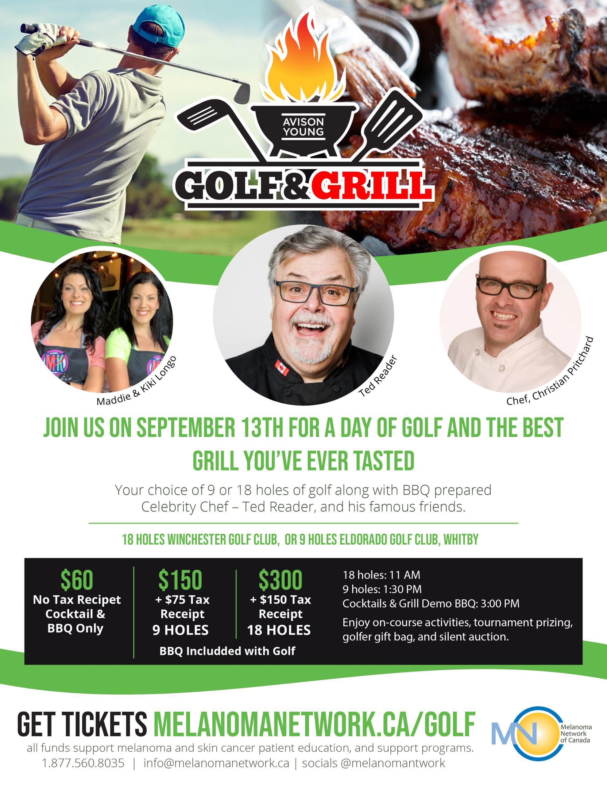 Golf and Grill Charity Golf Tournament @ Winchester Golf Club & Eldorado Golf Club, Whitby, ON
